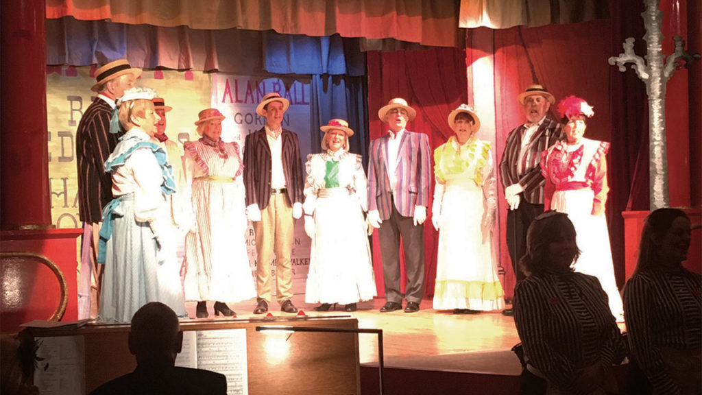The Kimpton Players perform old time music hall for Park Street Lodge and their guests