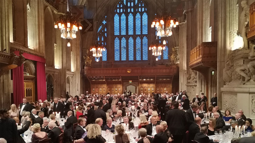 The gala celebration dinner for 2019 Festival took place at Guildhall London on Saturday, 6 July 2019