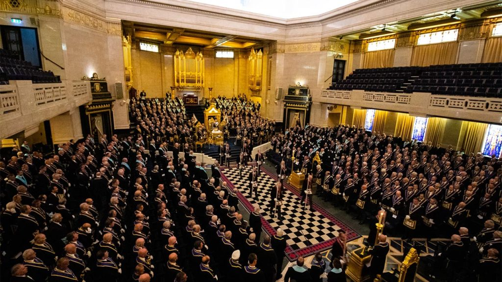Over 900 Brethren filled the Grand Temple at Freemasons' Hall for this year's Annual Meeting of Provincial Grand Lodge