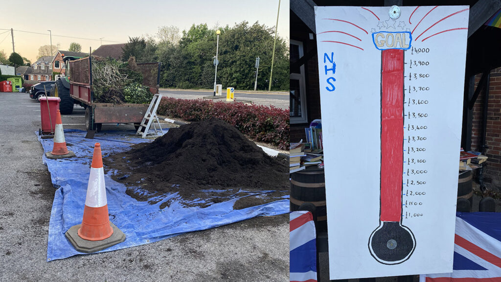 Knebworth Lodge member, Nick Darter, used his pub car park as a green waste recycling point, in return for charitable donations from the public
