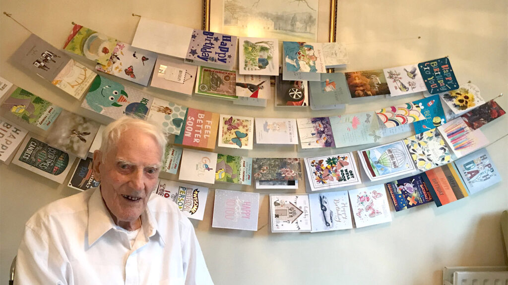 Roy Claridge has had a tough time of late but is on the road to recovery and has just celebrated his 102nd birthday!